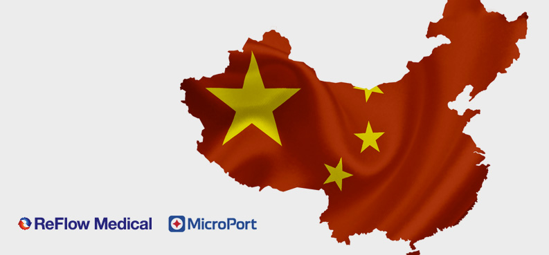 ReFlow Medical and MicroPort Scientific Announce Chinese Alliance